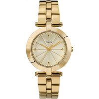 Timex Women's Style Elevated Gold Stainless-Steel Quartz Fashion Watch