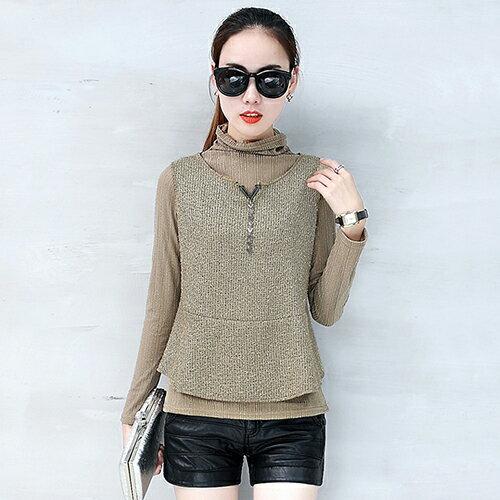 韓版寬鬆長袖針織T恤衫(3色S~2XL) 【OREAD】 0