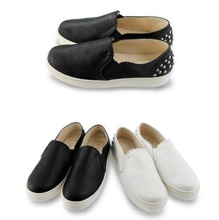 【Mystyle】富發牌-FR07ROCK網紋百搭鞋白.黑.23-25號。任兩雙免運