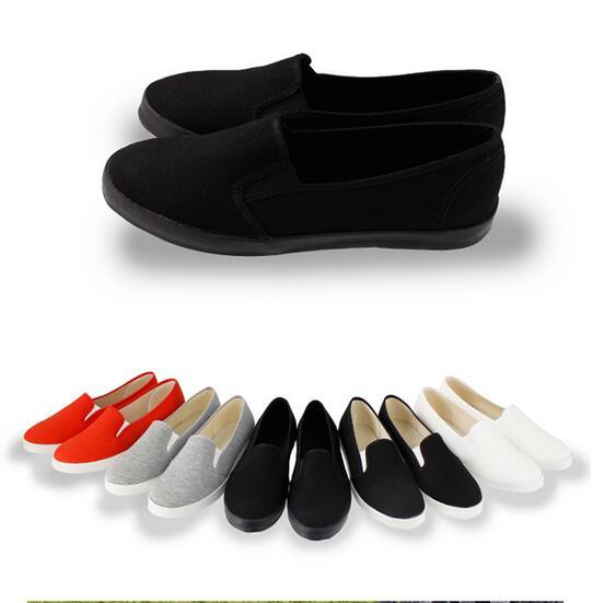 ~My style~富發牌~SP1 素面懶人鞋^(手繪用^) 黑黑.黑.米.灰.紅23~2