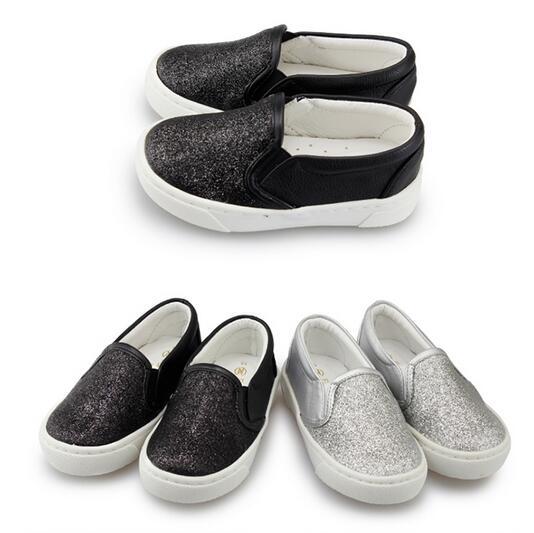 【Mystyle】富發牌-FNB26閃亮奢華懶童鞋黑1517192021、銀1516192021號。任兩雙免運