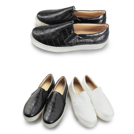 【My style】富發牌-FR13 嚴選皮紋質感便鞋 白.黑,23-25號。任兩雙免運