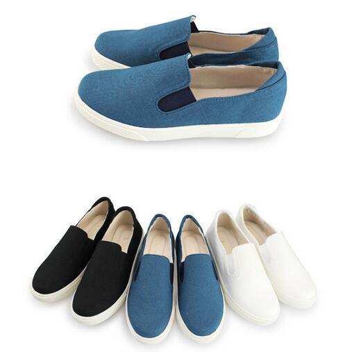 【My style】富發牌-N54 刷線純色帆布鞋 白.黑.藍,23-25號。任兩雙免運