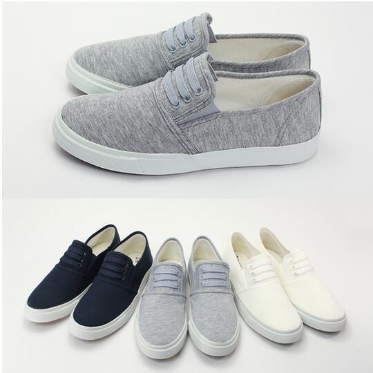 【Mystyle】富發牌-KF02【學院風】鬆緊便鞋白.藍.灰,23-25號。任兩雙免運