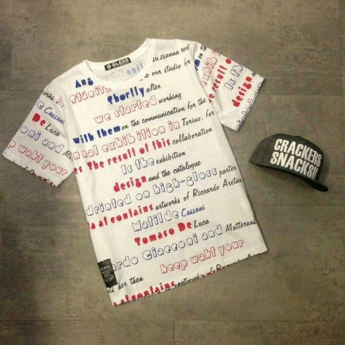 【My style】英文字亮色短袖T恤。白/黑,M/L/XL