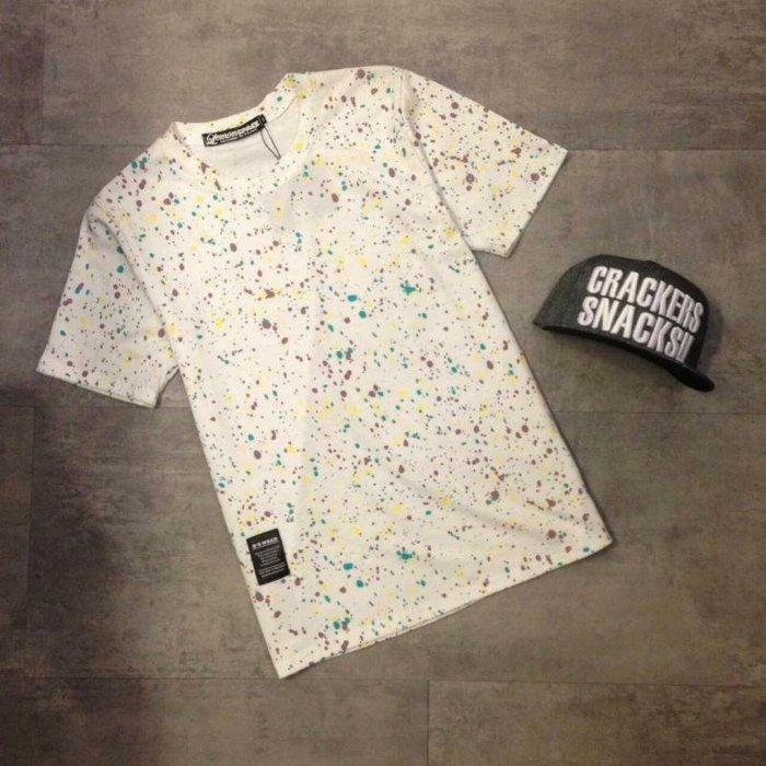 【My style】滿版潑漆短袖T恤。白/藍,M/L/XL