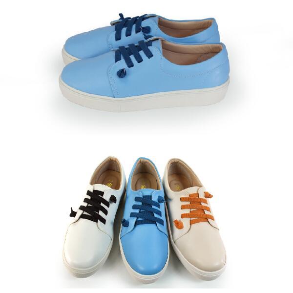 【My style】富發牌-FE73 舒適饅頭休閒鞋 白.杏.藍,23-25號。任兩雙免運