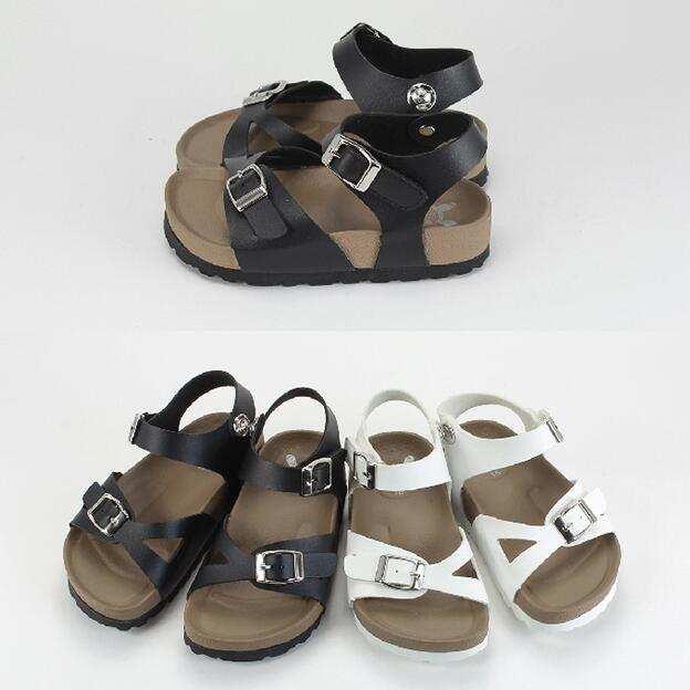 【My style】富發牌-MMFNB39 X扣環質感涼鞋 黑.白,16-22號。任兩雙免運