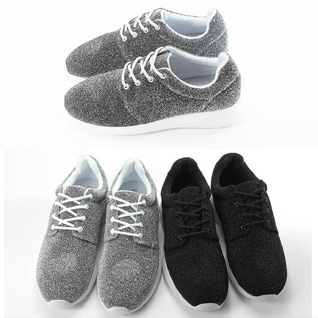 ~My style~富發牌~FF35 亮蔥點淑女慢跑鞋 銀.黑,23~25號~任兩雙