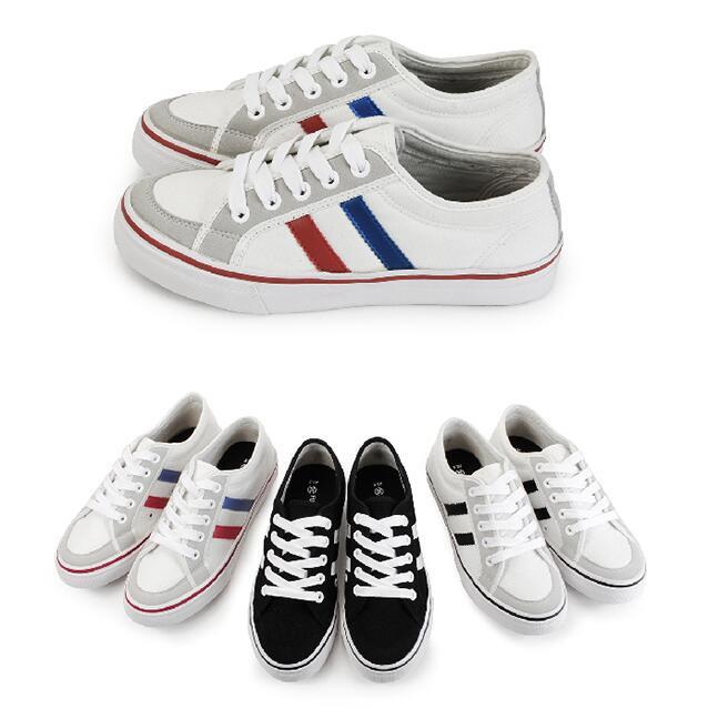 【My style】富發牌-X10 雙線拼接帆布休閒鞋 黑/白、白/黑、紅/藍,23-25號。任兩雙免運