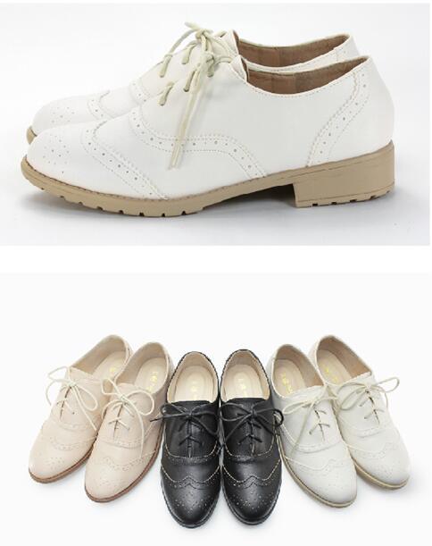 【My style】富發牌-FE77 牛津百搭質感低跟鞋 黑.白.杏,23-25號。任兩雙免運