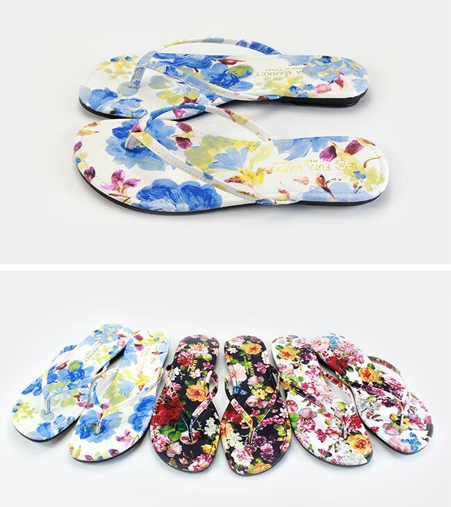 【My style】富發牌-PPKM01 繁花經典拖鞋 白花.黑花.藍花,S.M.L號。任兩雙免運
