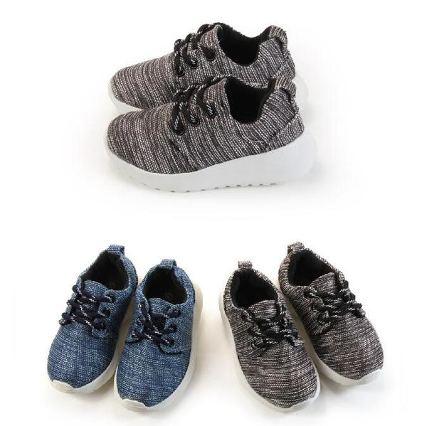 【Mystyle】富發牌-FNB53混織慢跑童鞋黑.藍,15-21號。任兩雙免運