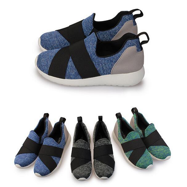 【My style】富發牌R76~混色質感織紋繃帶慢跑鞋(黑.綠.藍)23-25號-任兩雙免運