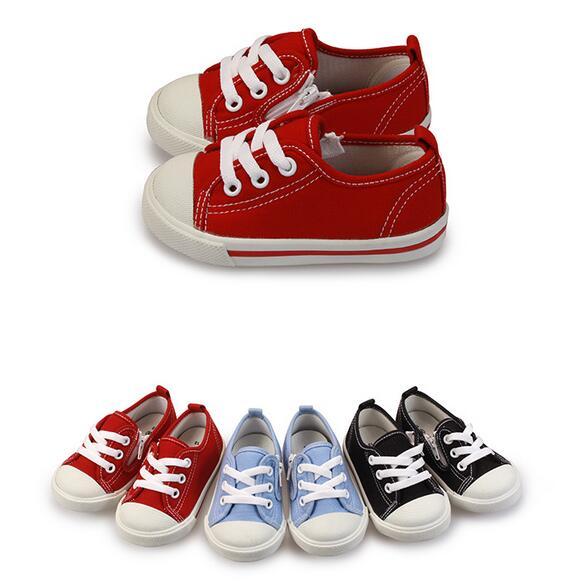 【My style】富發牌AB11~純色經典帆布童鞋(黑.紅.藍)13.14.15號-任兩雙免運