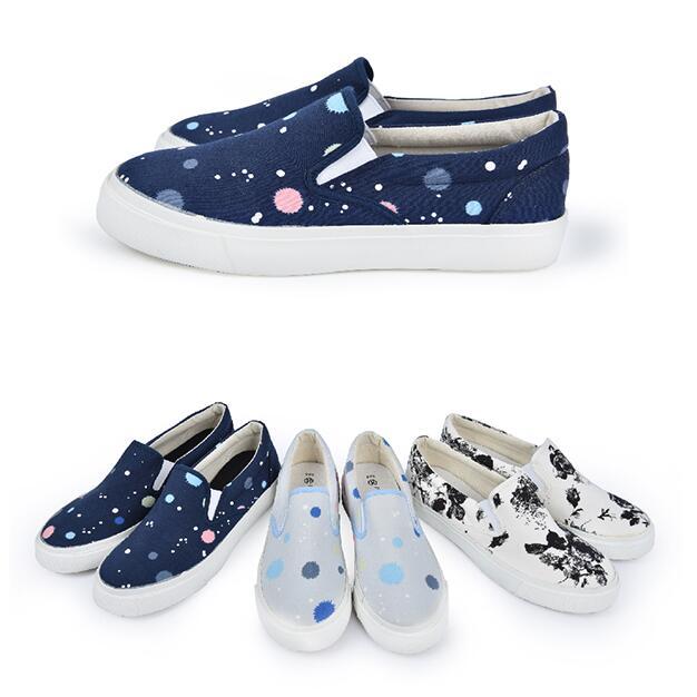 【My style】富發牌U87~美系風格便鞋-懶人鞋(水藍.深藍.黑花)23-25號-任兩雙免運