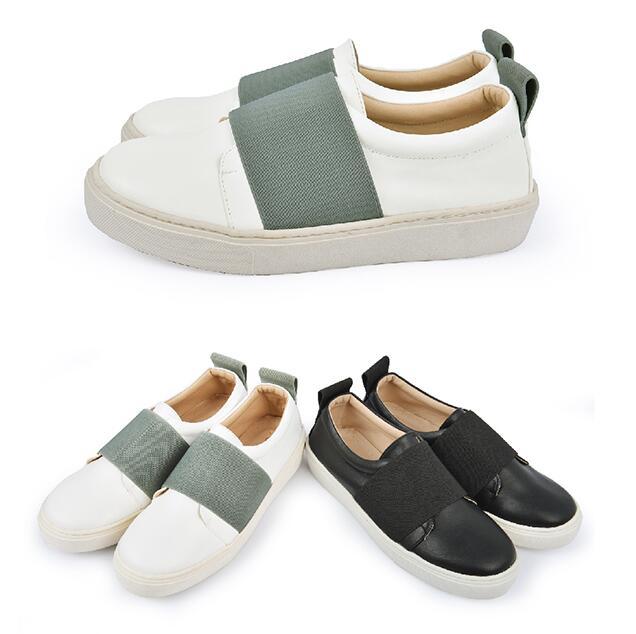 【My style】富發牌N71~韓系一字繃帶便鞋-懶人鞋(黑/黑、白/灰)23-25號-任兩雙免運