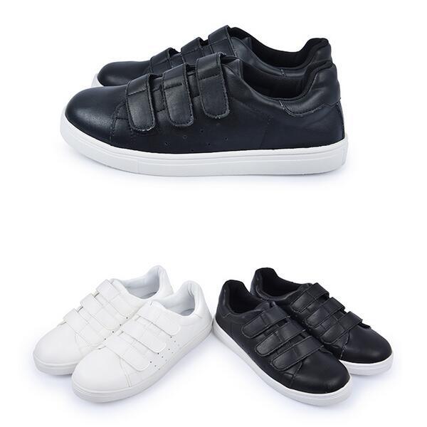 【Mystyle】富發牌R39~魔鬼氈設計透氣休閒球鞋(黑.白)23-25號-任兩雙免運