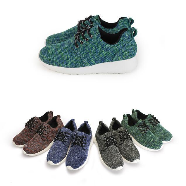 【My style】富發牌R75~混色質感織紋慢跑鞋(黑.紅.綠.藍)23-25.5號-任兩雙免運