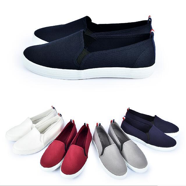 【My style】富發牌1BM02素色帆布百搭休閒鞋(灰.藍.白.紅)23-25號-任兩雙免運