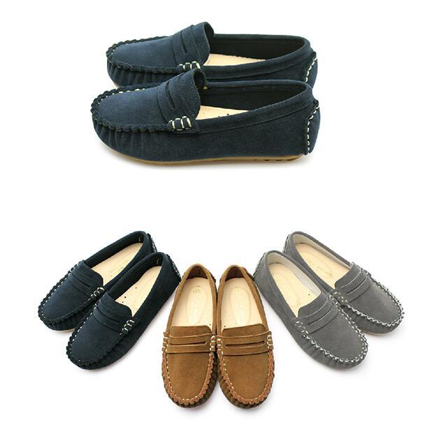 <br/><br/> 【My style】富發牌3RA08經典素色豆豆童鞋(灰.棕.藍)15-21號-任兩雙免運<br/><br/>