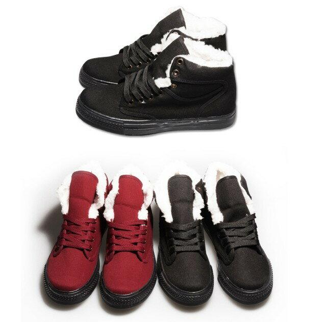 【My style】富發牌-U53 毛絨高統休閒鞋,SIZE:23-25號。任兩雙免運