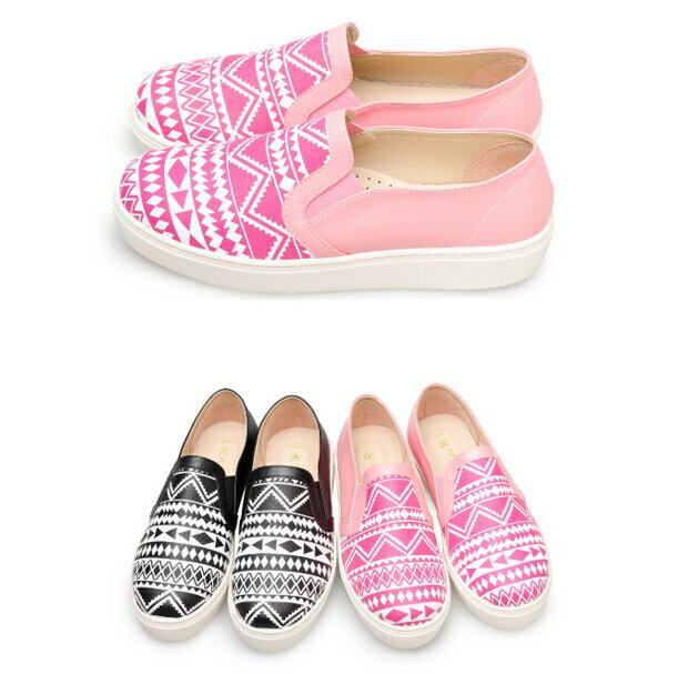 【My style】富發牌-FE41 圖騰舒適休閒懶人鞋,SIZE:23-25號。任兩雙免運