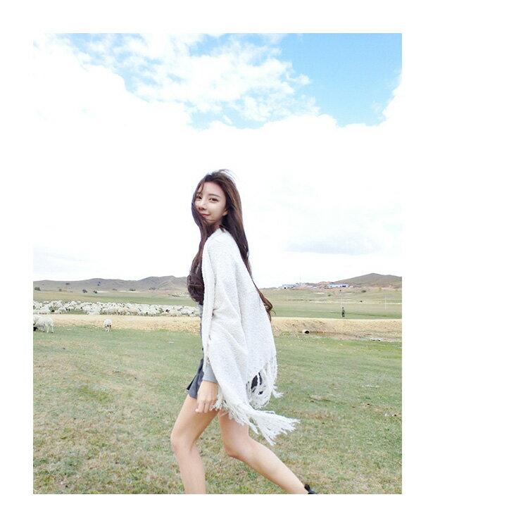 圍巾 素色針織流蘇毛邊披肩/圍巾【LQD125】 BOBI  10/20 2