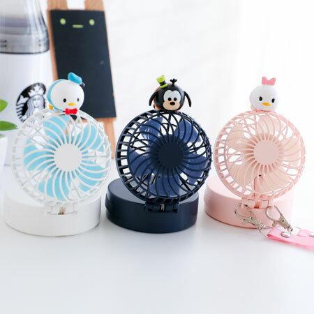 隨身小風扇(附鏡子)電風扇桌扇手持風扇USB風扇鏡子可懸掛便攜式【B063272】