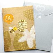 小蜜蜂 書籤 18K金 卡片 送禮 禮品 鏤空雕花 花邊手帳鄉村手作婚禮小物 迷你 迴紋針 書夾