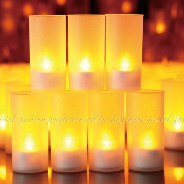 單色聲控蠟燭燈 浪漫聲控蠟燭.仿真蠟燭吹了就熄 LED蠟燭燈 婚禮小物【DZ308】◎123便利屋◎