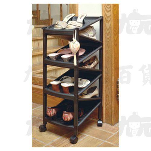 【九元生活百貨】聯府A-2007Z型七層雙面鞋架(附輪)置物A2007
