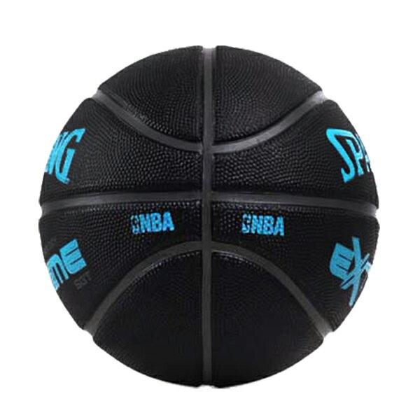 【滿額領券折$150】SPALDING 斯伯丁 籃球 室外球 NBA SGT 橡膠 深溝 柔軟 黑藍色【SPA83306】