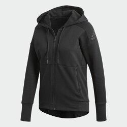 ADIDAS SPORT ID STADIUM 女裝 外套 連帽 休閒 訓練 棉質 黑【運動世界】CG1013