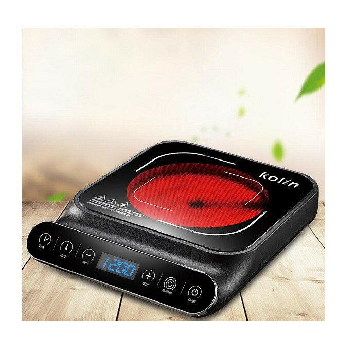 《省您錢購物網》 福利品~歌林Kolin雙線圈 觸控式 不挑鍋黑晶電陶爐  (KCS-MN1218)