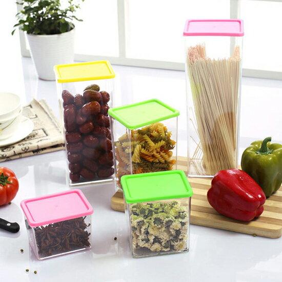 ?MY COLOR?彩蓋疊加儲物罐(370ML) 廚房 食物 食品 五穀 雜糧 涼拌 料理 透明【N44】