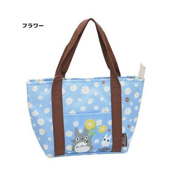 【真愛日本】16052200011保溫便當袋-向日葵藍    龍貓 TOTORO 豆豆龍  手提袋 造型提袋  便當袋 正品