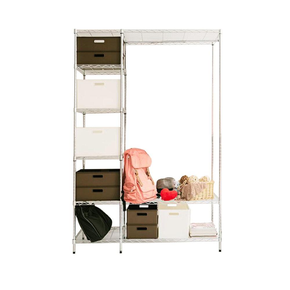 組合衣櫥/大衣櫥/衣架 電鍍六層單桿大衣櫥(加贈布套五色選一) dayneeds