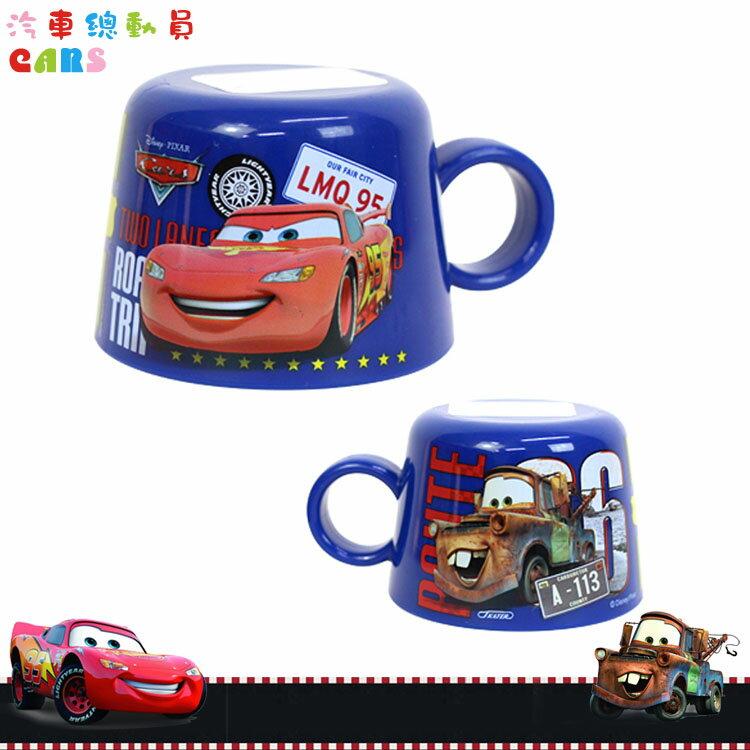 大田倉 日本進口正版 迪士尼 Disney 汽車總動員 閃電麥坤 Cars 寶特瓶專用 杯蓋杯子水杯 深藍 373176