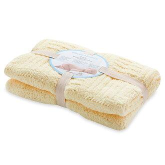 【淘氣寶寶】奇哥 立體格紋柔舒毯(小-80×100公分)(黃色)【奇哥正品】