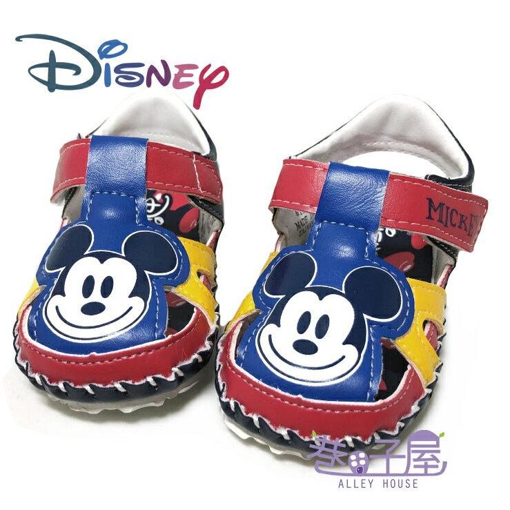 迪士尼DISNEY 手工系列-童款米奇包趾涼鞋 [118184] 藍 MIT台灣製造【巷子屋】