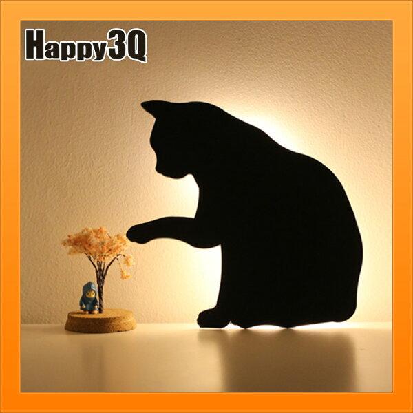 感應燈日式可愛創意寵物剪影夜燈貓咪狗狗壁燈走廊燈寵物燈-貓狗【AAA4062】
