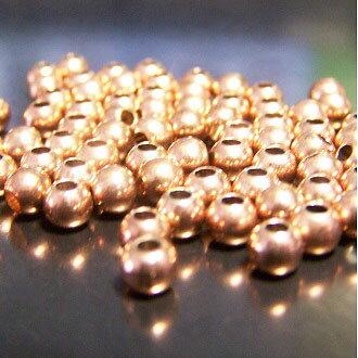 保色玫瑰金珠 4mm DIY項練/手鏈圓珠配件 - 限時優惠好康折扣