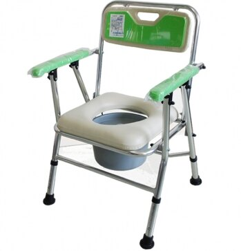 永大醫療~鋁合金收合便器椅-綠 特惠價1850元