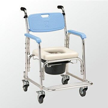永大醫療~均佳 有輪不可收便器椅JCS-205 特惠價2880元