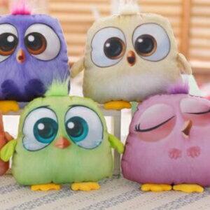 美麗大街【HB106082228】毛絨玩具可愛五色小鳥汽車頭枕公仔去甲醛竹炭車枕
