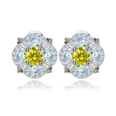 ~純銀耳環鍍白金鑲鑽耳飾~ 精緻亮眼魅力生日情人節 女飾品2色73cr229~ ~~米蘭
