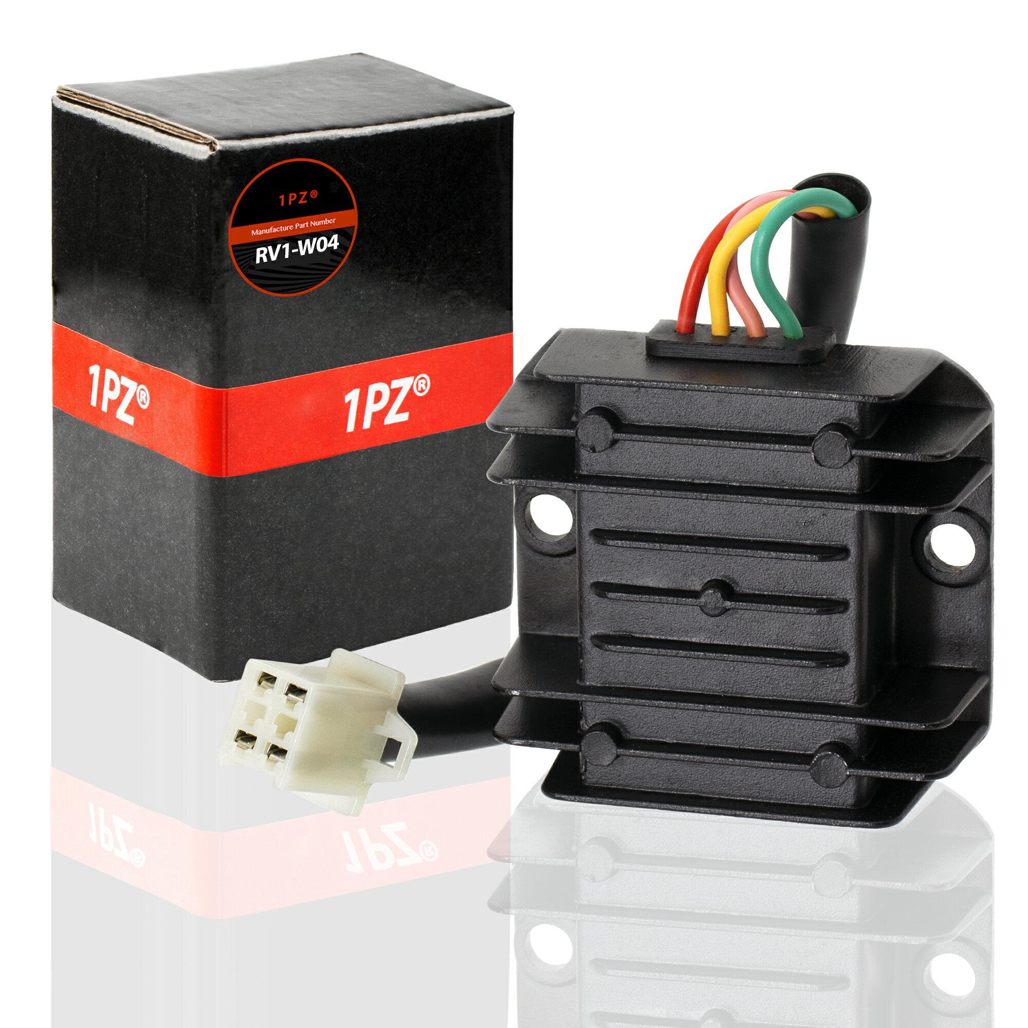 1PZ RV1-W04 4 Wire 12V Voltage Regulator for CG 125cc 200cc 250cc and GY6  50cc 60cc 80cc 125cc 150cc ATV Dirt Bike Go Kart Moped and Scooter