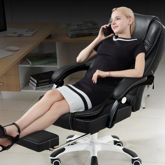 電腦椅 升降電腦椅家用辦公椅子可躺老板椅皮藝轉椅按摩椅子擱腳椅【全館免運 限時鉅惠】