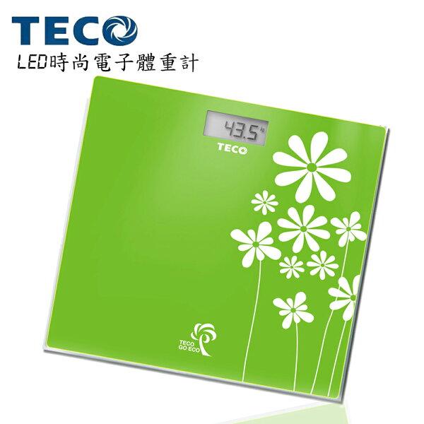 快樂老爹:【TECO東元】LED時尚電子體重計XYFWT503